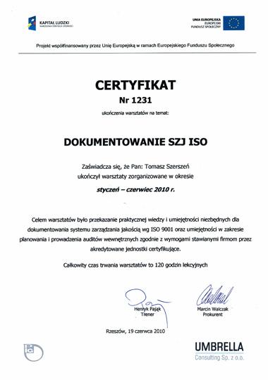 Dokumentowanie systemów zarządzania jakością wg ISO 9001 oraz planowanie i prowadzenie auditów zgodnie z wymogami stawiającymi firmom przez akredytowane jednostki certyfikujące